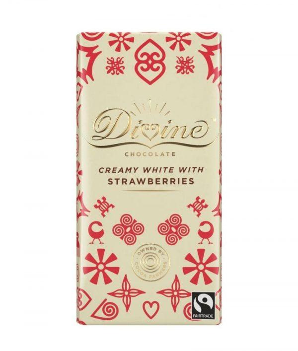 Divine White Chocolate with Strawberries