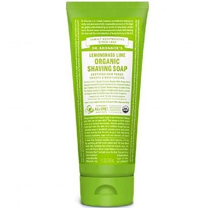 Dr Bronner Lemongrass Lime Shaving Gel:Soap