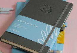 HANDS UP notebook in grey