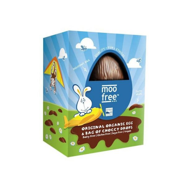 Moo Free Original Easter Egg with choccy drops