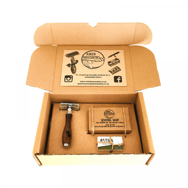 The Naked Shave Traditional Shaving Kit Eco-friendly Plastic Free