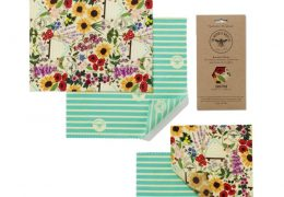 Lunch Pack Wholesale - Floral Beeswax Reusable Sandwich Wraps
