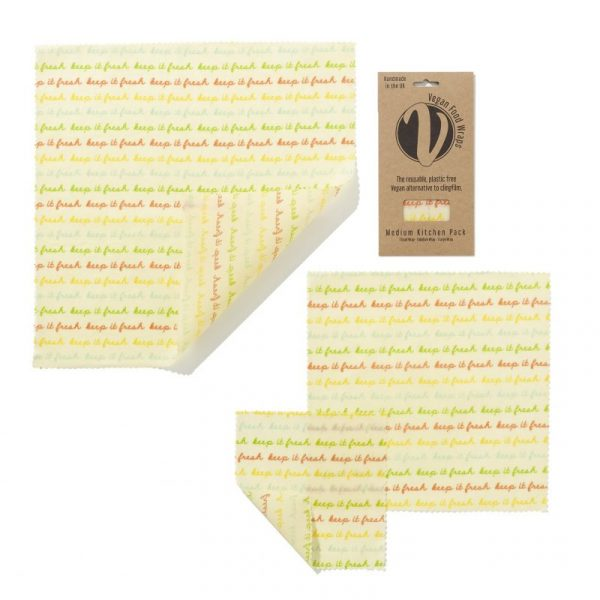 Medium Kitchen Pack Beeswax Wrap Vegan