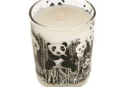 Panda Party Design Scented Organic Candle (Bamboo and Olive Blossom)
