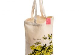 Bee Free Canvas Shopper by ARTHOUSE Unlimited at Qbamboo