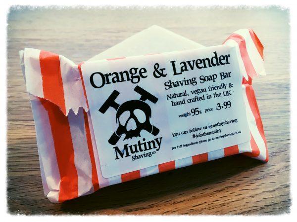 Mutiny Orange & Lavender Natural Shaving Soap