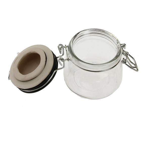 East of India - Fat Ceramic Lid Glass Jar