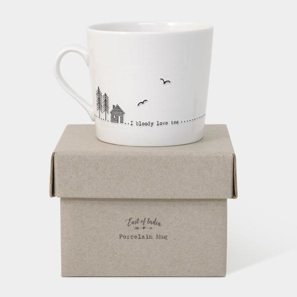 Wobbly mug-Bloody love tea