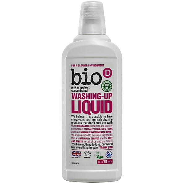 Bio D Grapefruit Washing Up Liquid. recycled plastic bottle. hypoallergenic