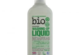 Bio D Fragrance Free Washing Up Liquid. recycled plastic bottle. hypoallergenic