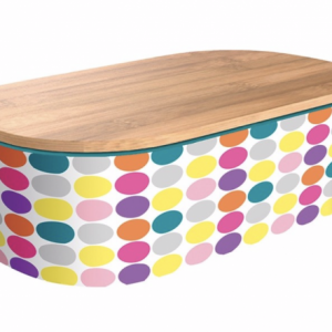 Bright Circles Deluxe Bamboo Lunchbox