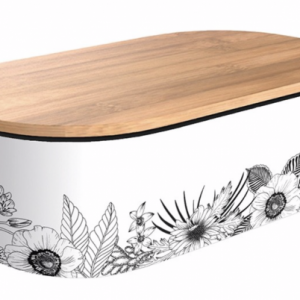 Deluxe Bamboo Lunchbox - Minimalist Flowers
