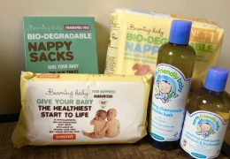 Eco-baby starter pack. eco-friendly and sustainable baby products