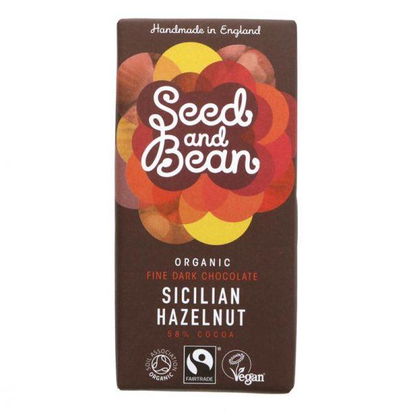 Seed & Bean Dark Chocolate and Hazelnut Bar