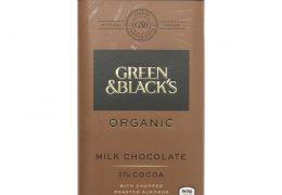 Green & Black's Organic Milk Chocolate and Almonds Bar