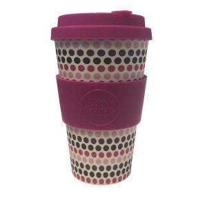 Ecoffee Cup: Pink Polka 14oz