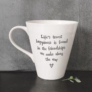 4163 Porcelain mug-Life's truest happiness