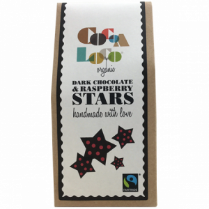 Cocoa Loco dark Chocolate Raspberry Stars