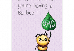 Ba-Bee-Leaf Sustainable good luck card