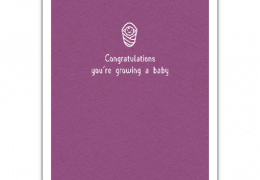 Baby Grow Congratulations Sustainable Card