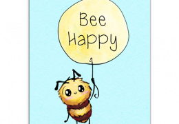 Bee Happy Sustainable Greetings Card