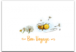 Bon Voyage Bee Sustainable Leaving Good Luck Card
