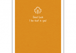 Lucky Be-Leaf Sustainable good luck card