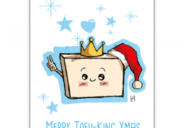 Merry Tofu-King Christmas Greatings Cards by 1 Tree Cards. Sustainable greetings cards.