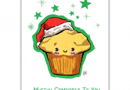 Muffin Compares to you Christmas Greatings Cards by 1 Tree Cards. Sustainable greetings cards.