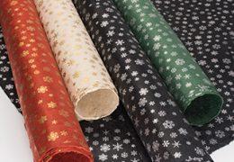 Snowflake Printed Lokta Paper Giftwrap