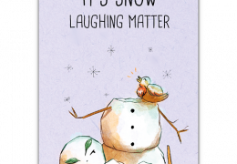 Snow Laughing Matter Sustainable Christmas Card