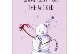 Snow Rest for the wicked sustainable Christmas card