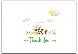 Thank You Cow Sustainable Card