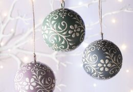 Hand Painted Bauble Hanging Decoration Fair trade
