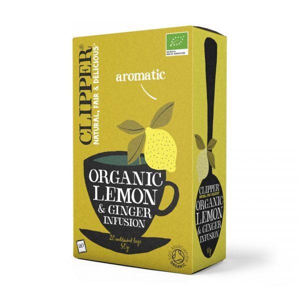 Lemon & Ginger Tea, Organic, Clipper (20 bags)
