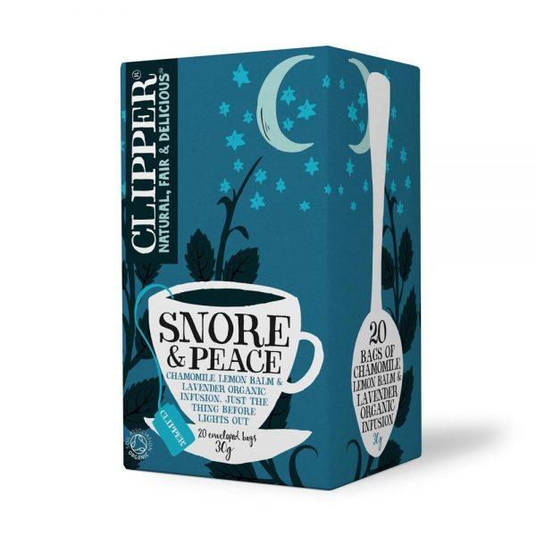 Clipper Snore & Peace - Lemon Balm & Lav [20 Bags x 6]