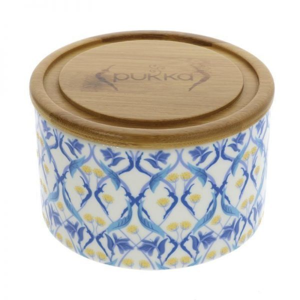 Pukka Ceramic Caddy with Bamboo Lid