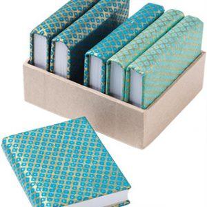 Blue Pattern Lokta Paper Notebooks
