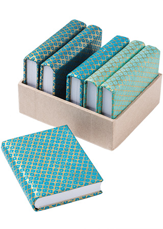 Blue Pattern Lokta Paper Notebooks