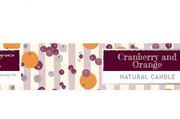 Cranberry and Orange Small Dotty Tin Candle