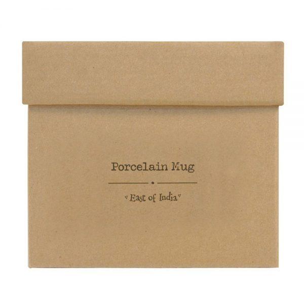 East of India Porcelain Mug gift box