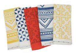 Passa Paa Linen Block Print Tea Towels