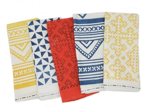 Passa Paa Linen Block Print Tea Towels