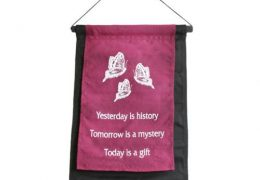 Buddha Banner Yesterday is History