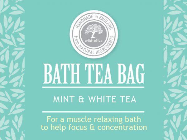 Bath Tea bag Mint and white tea