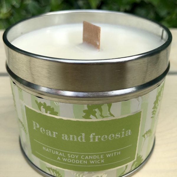 Natural Soy Candle with Wooden wick Clementine and Prosecco