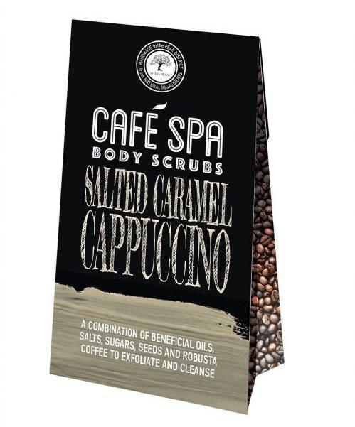 Salted Caramel Cappuccino Coffee Scrub Wild Olive
