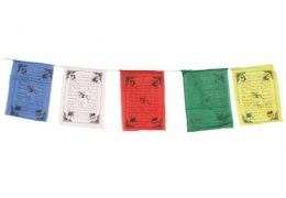 Tibetan Prayer Flags Set of 5 medium