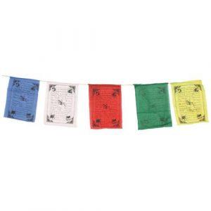 Tibetan Prayer Flags Set of 5 medium