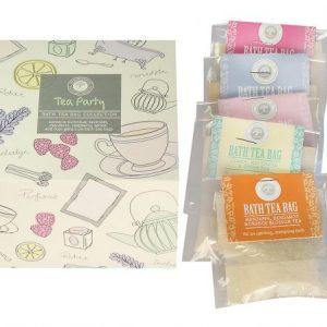 Tea Party Gift Set Bath Tea Bags Wild Olive
